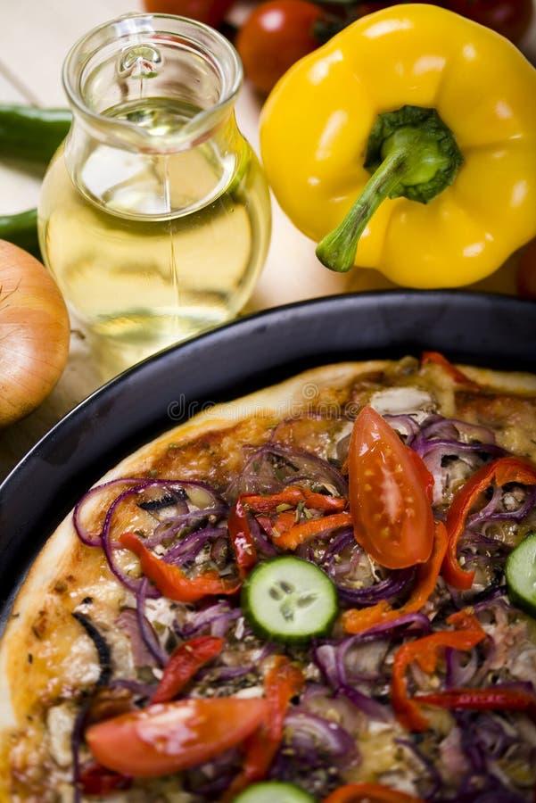 Pizza y cocina italiana imagen de archivo