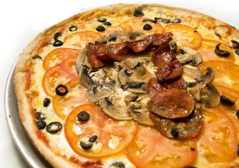 Pizza Zeven stock afbeelding