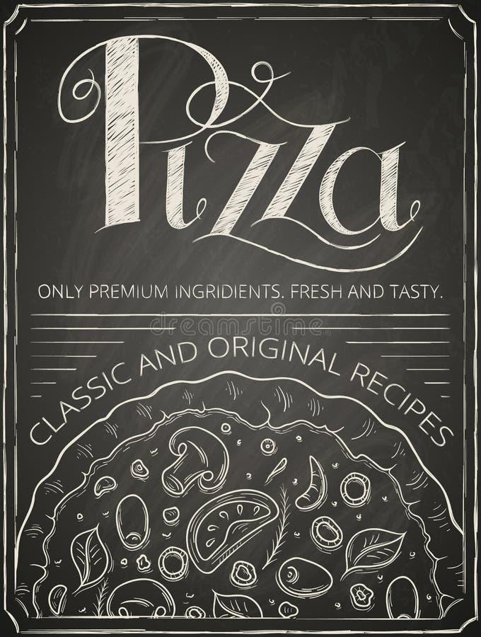 Pizzaaffiche royalty-vrije illustratie