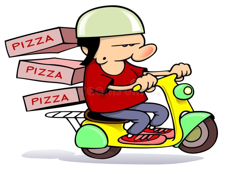 Pizzaanlieferung vektor abbildung