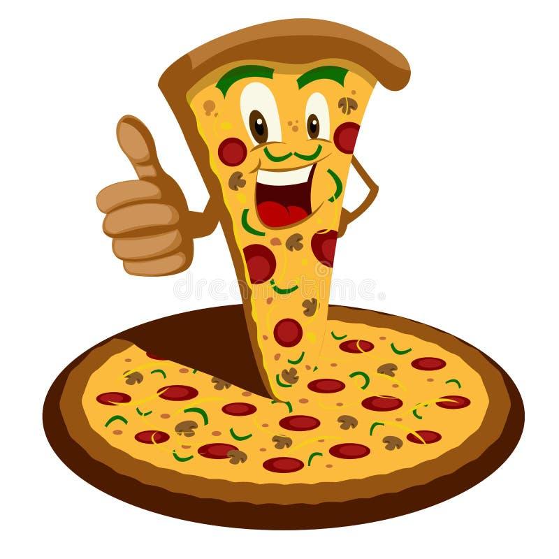 Pizzabeeldverhaal stock illustratie