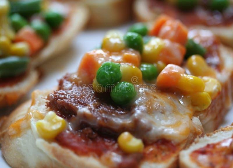 Pizzabrot stockfoto