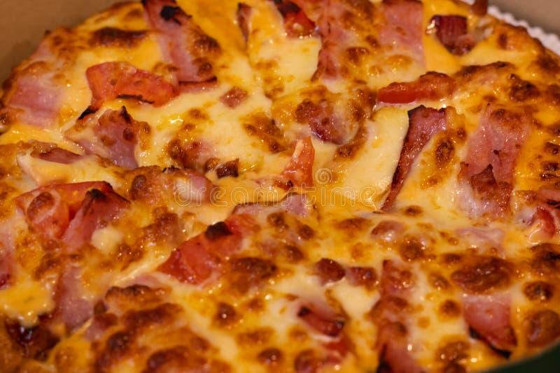 Pizzahamburger en klaar te eten royalty-vrije stock afbeeldingen