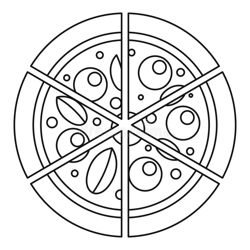 Pizzaikone mit vier Käsen, Entwurfsart lizenzfreie abbildung
