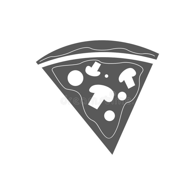 Pizzaikonenvektor einfach stock abbildung