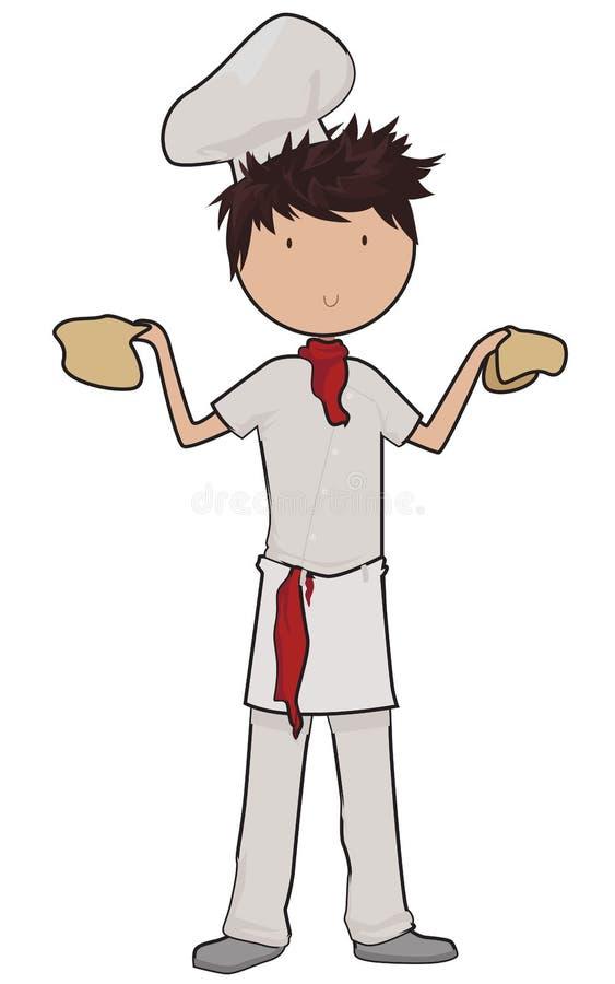 Pizzajongen stock illustratie