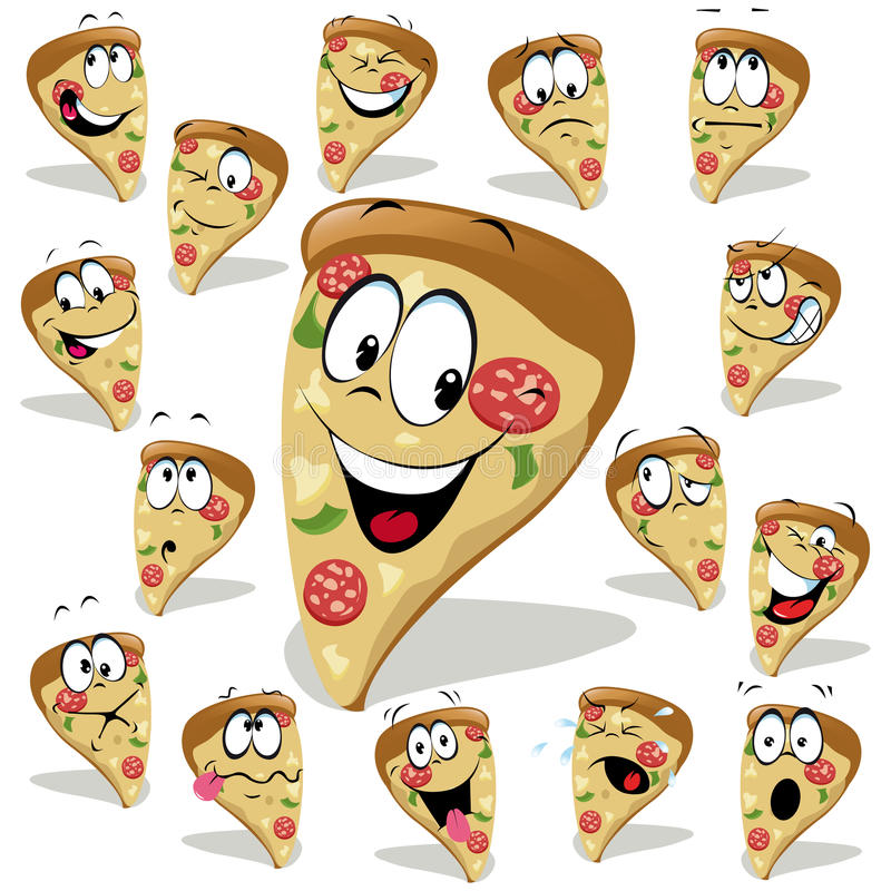 Pizzakarikatur vektor abbildung