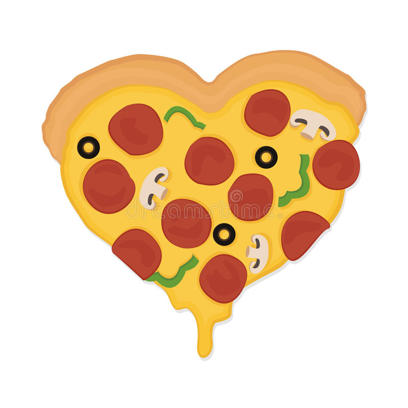 Pizzaliefde royalty-vrije stock afbeelding