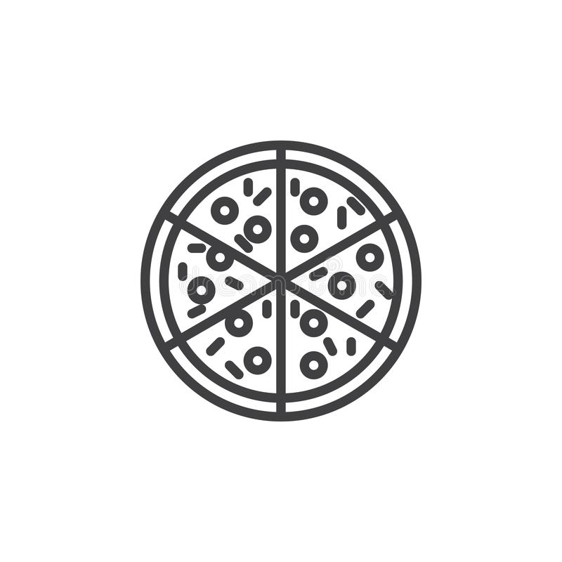 Pizzalinje symbol royaltyfri illustrationer
