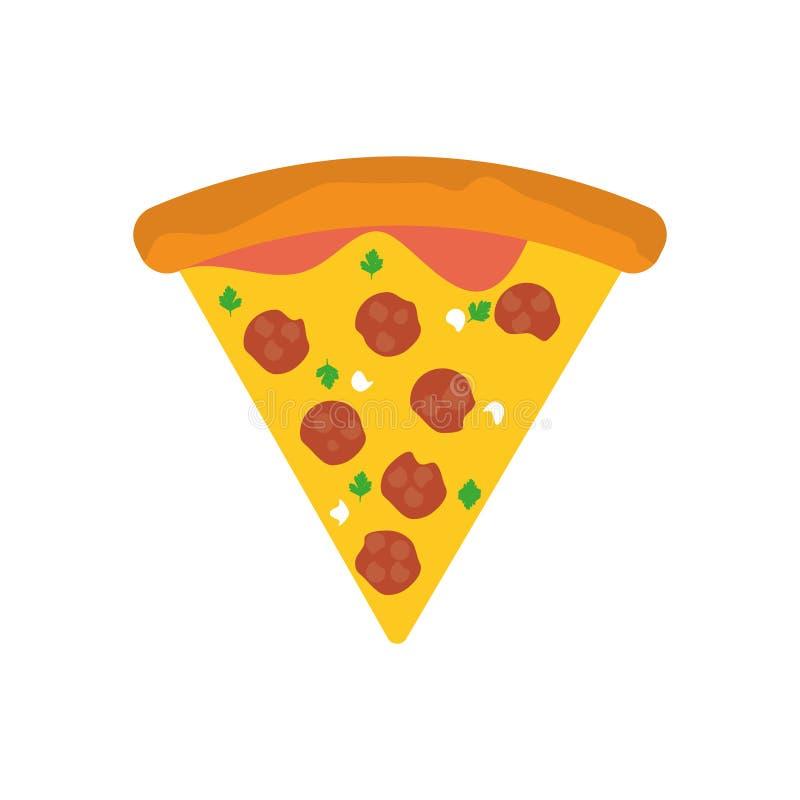 Pizzamat som är ny äter folk stock illustrationer