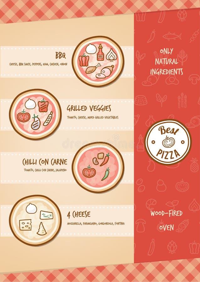 Pizzamenü stock abbildung