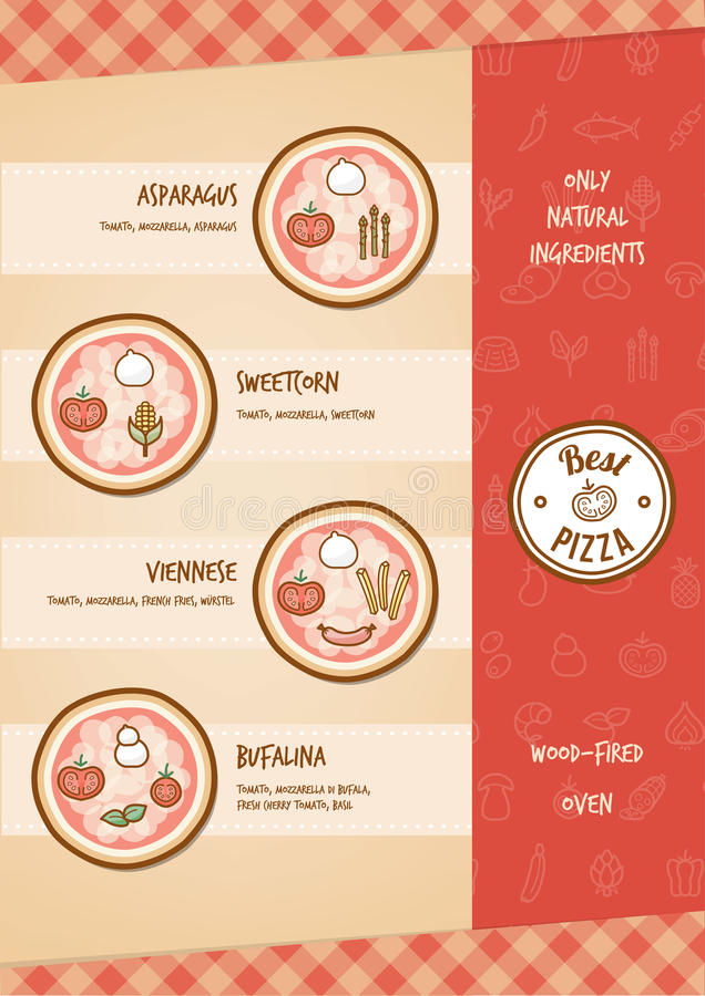 Pizzamenü vektor abbildung