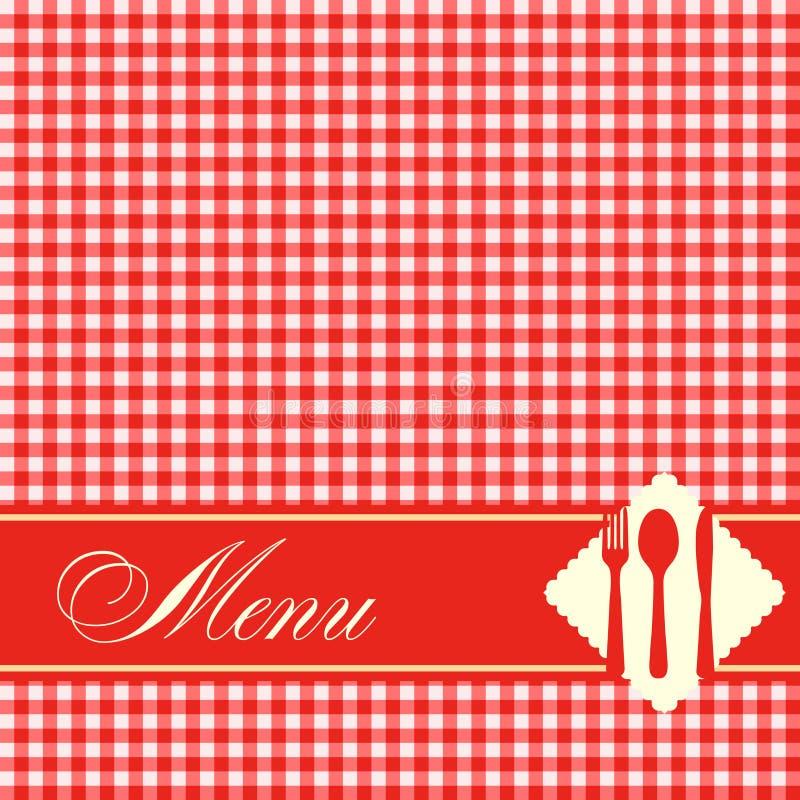 Pizzamenüschablonen-Vektorillustration stock abbildung