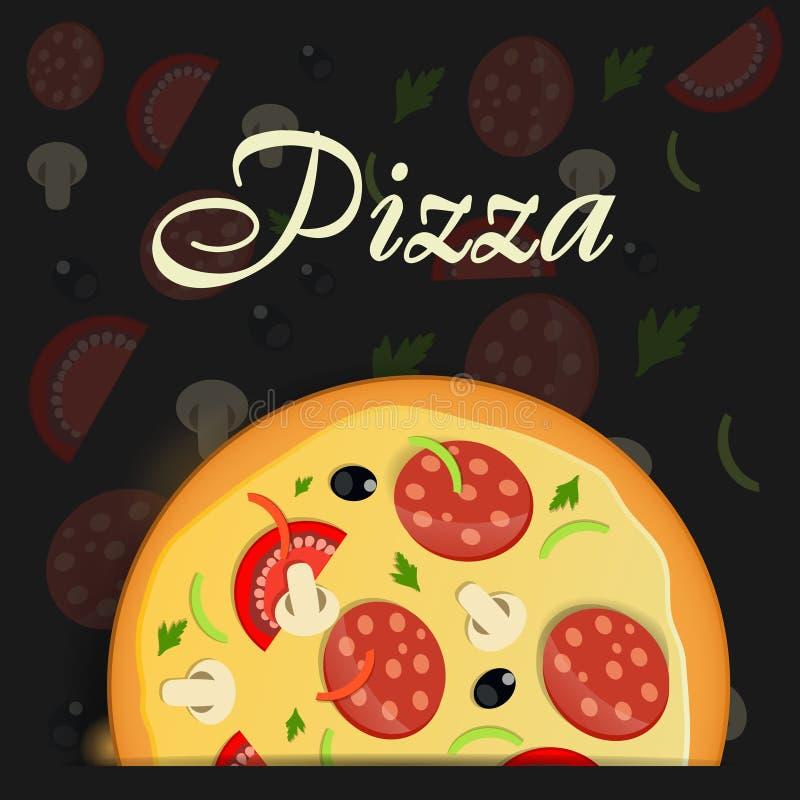 Pizzameny  royaltyfri illustrationer