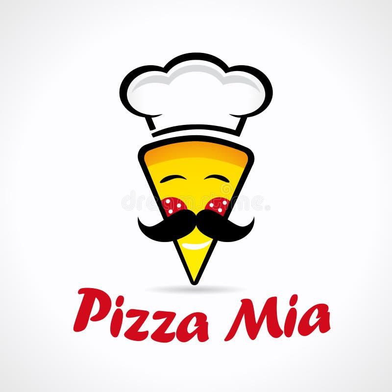PizzaMia logo royaltyfri illustrationer