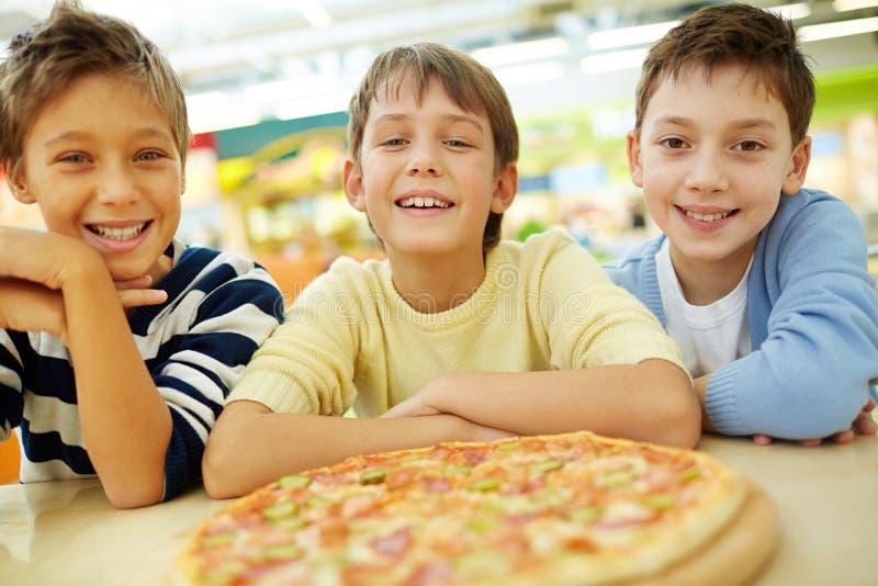 Pizzaminnaars stock afbeeldingen