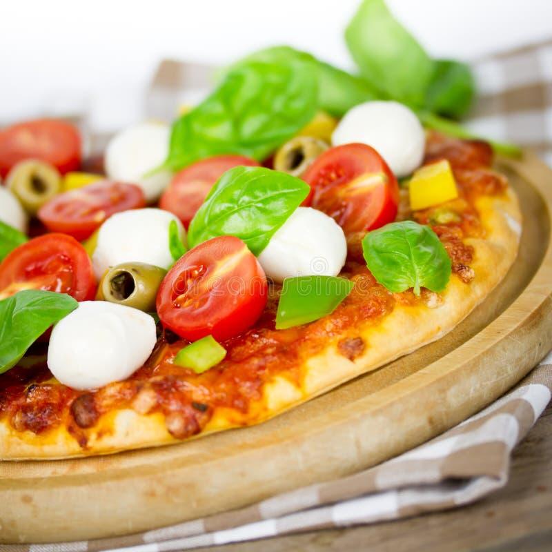 Pizzamozarella royalty-vrije stock afbeeldingen