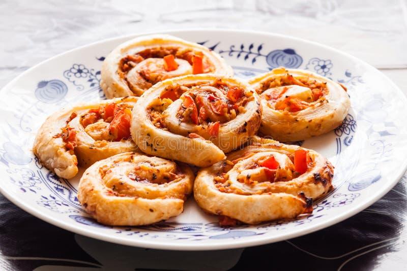 Pizzanaaktslakken stock foto's