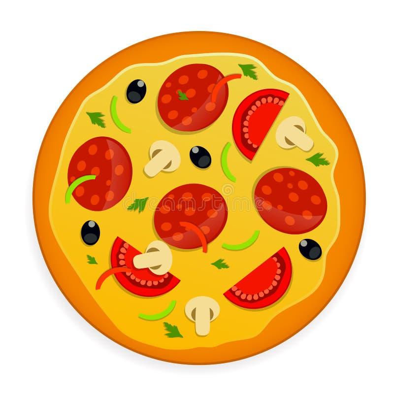 Pizzapictogram royalty-vrije illustratie