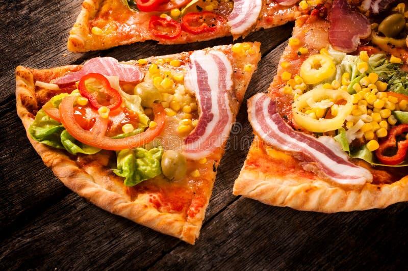 Pizzaplak royalty-vrije stock afbeeldingen