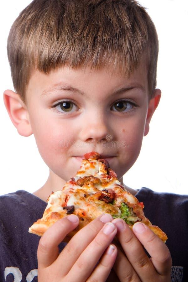 Pizzapojke royaltyfri bild