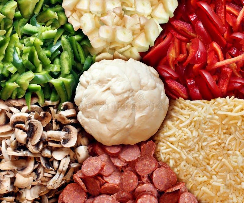 Pizzarecept stock afbeelding