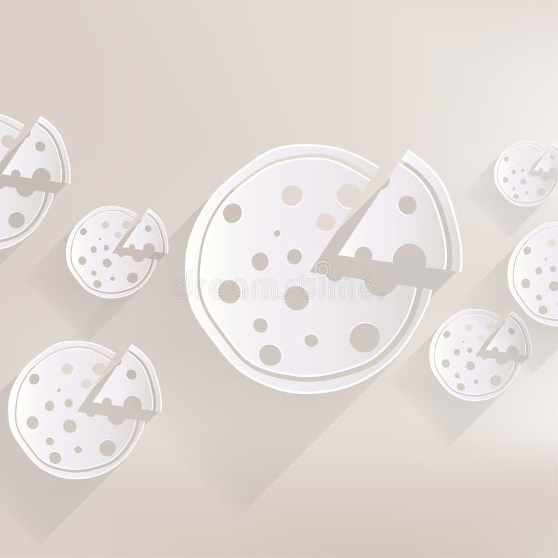 Pizzarengöringsduksymbol stock illustrationer