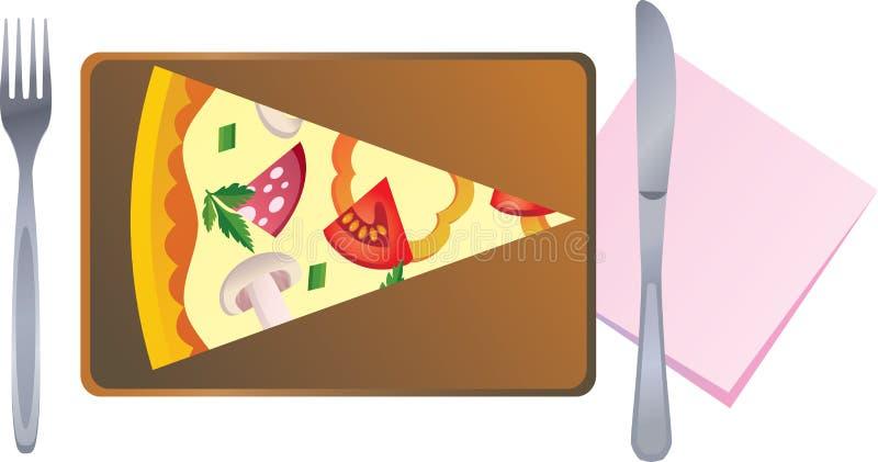 pizzaskiva royaltyfri illustrationer
