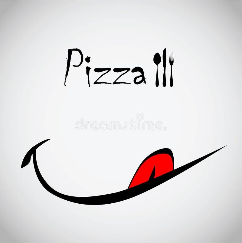 Pizzasmils royaltyfri illustrationer
