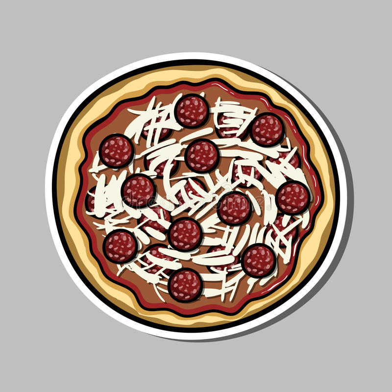 Pizzasticker royalty-vrije illustratie