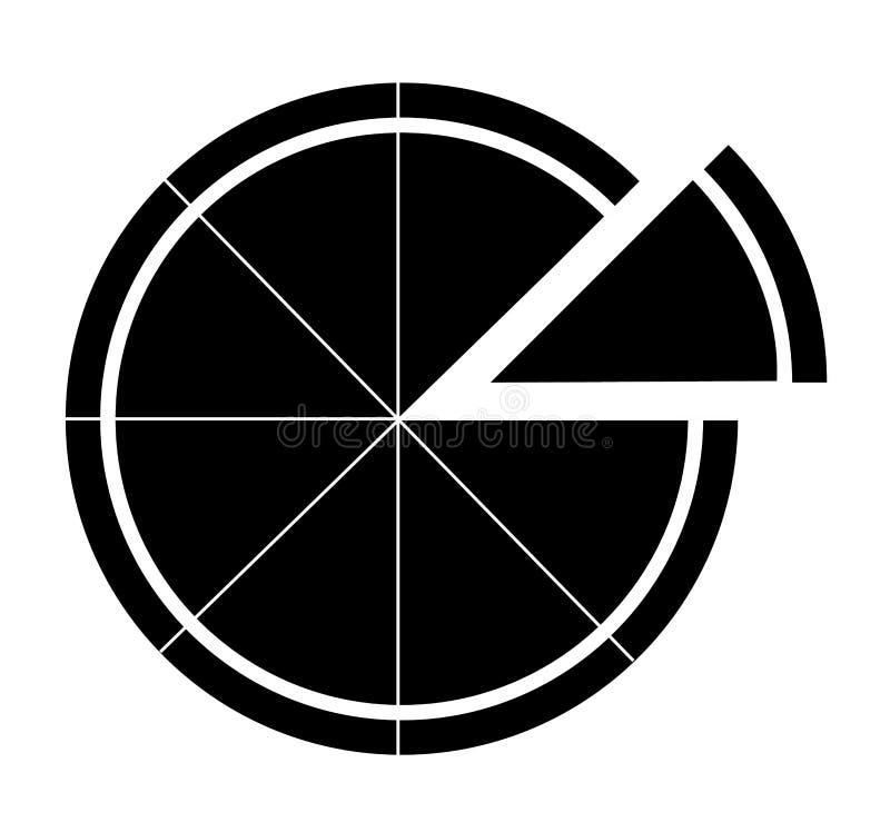 Pizzasymbol på vit bakgrund pizzasymbol för din webbplatsdes vektor illustrationer