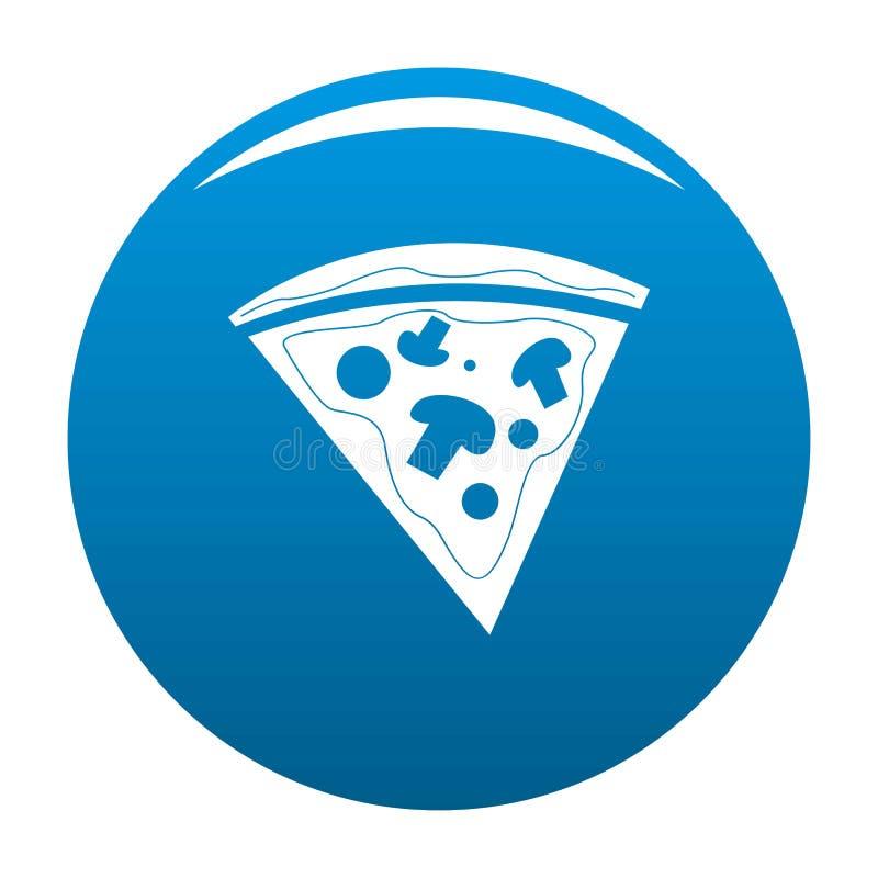 Pizzasymbolsblått vektor illustrationer
