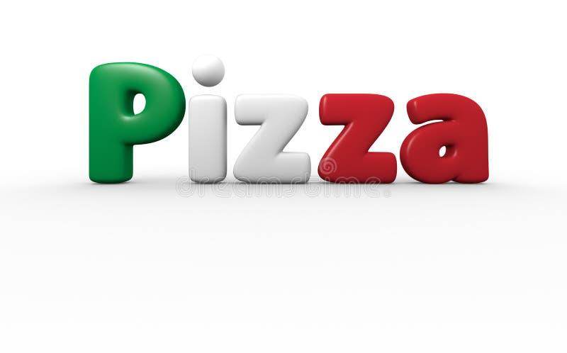 Pizzatext stock illustrationer