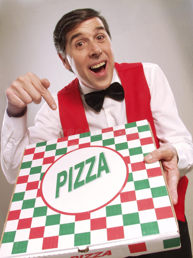 Pizzatid. arkivfoton