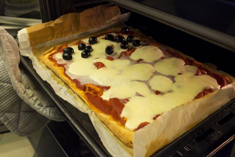 Pizzatijd! stock fotografie