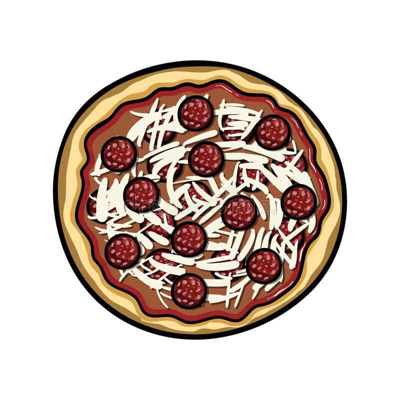 Pizzavector stock illustratie