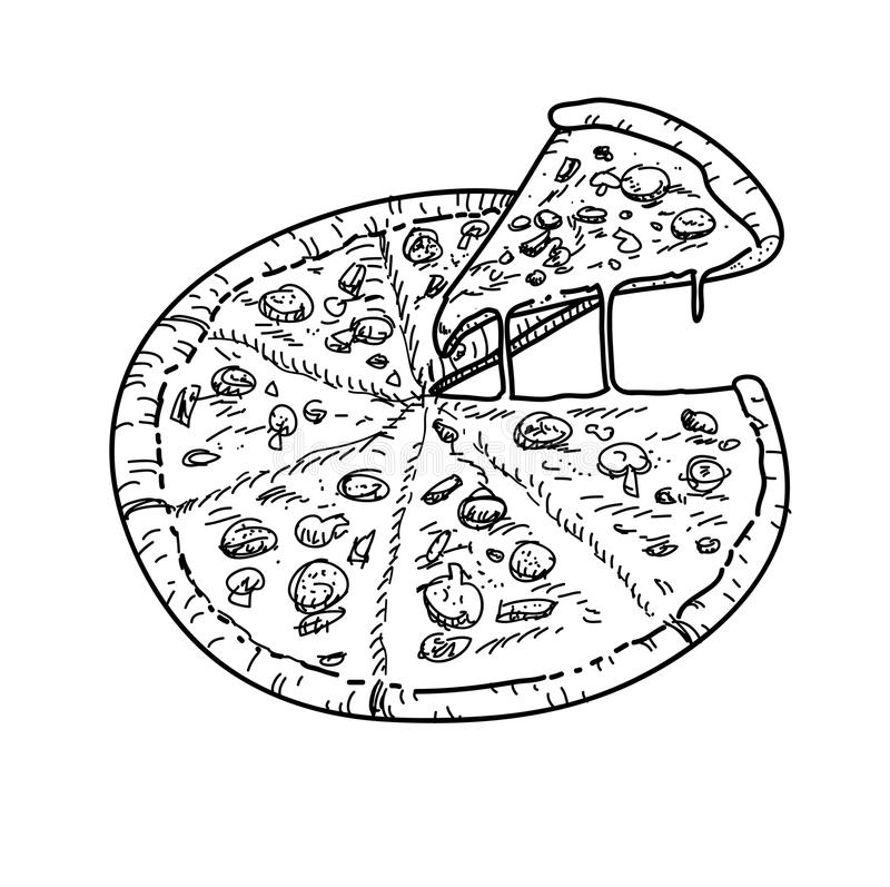Pizzavector royalty-vrije illustratie