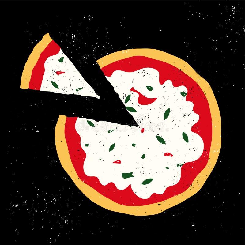 Pizzavektor royaltyfri illustrationer