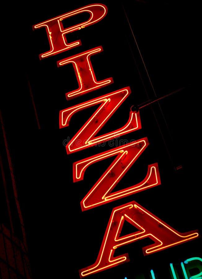 Pizzazeichen Stockfotos