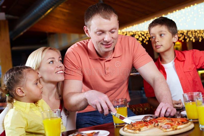 In pizzeria immagine stock