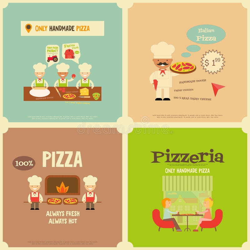 pizzeria royaltyfri illustrationer