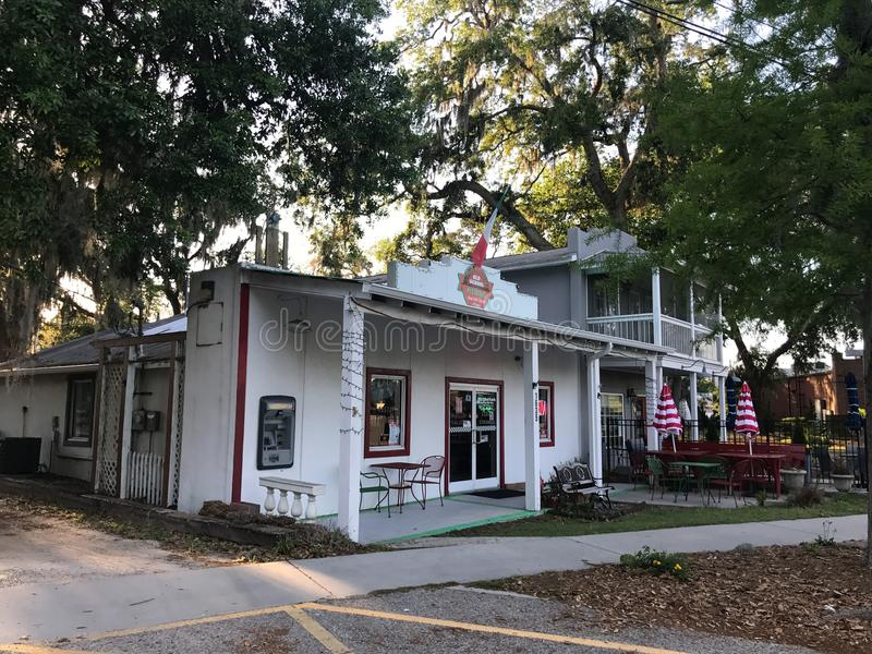 Pizzeria della vecchia scuola, Port Royal, Carolina del Sud immagini stock libere da diritti