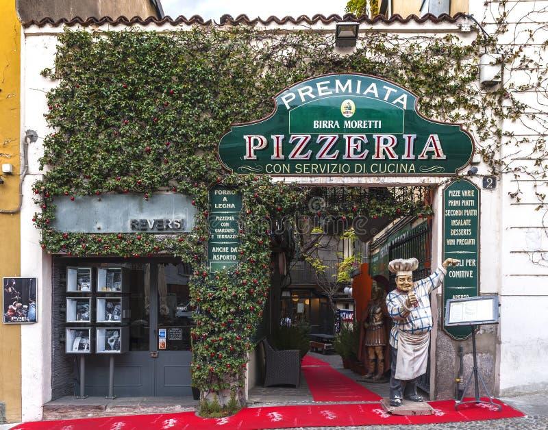 Pizzeria della via immagine stock libera da diritti