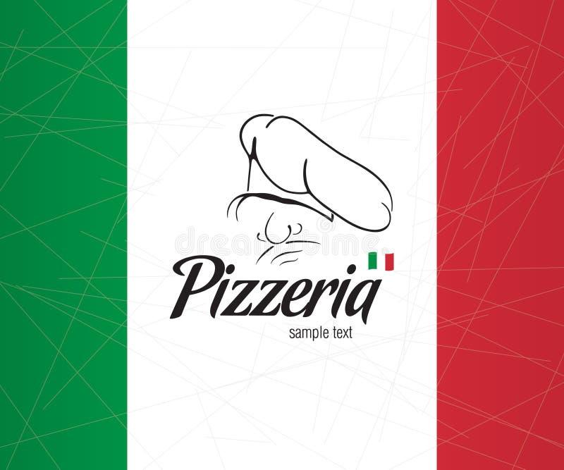 pizzeria för räkningsdesignmeny vektor illustrationer