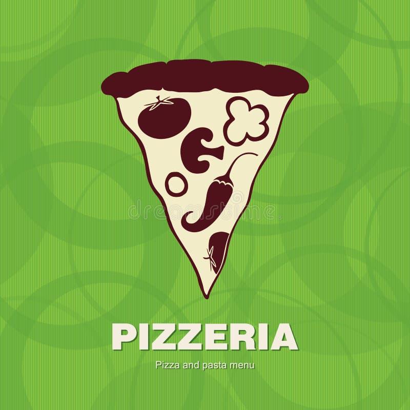pizzeria för räkningsdesignmeny stock illustrationer