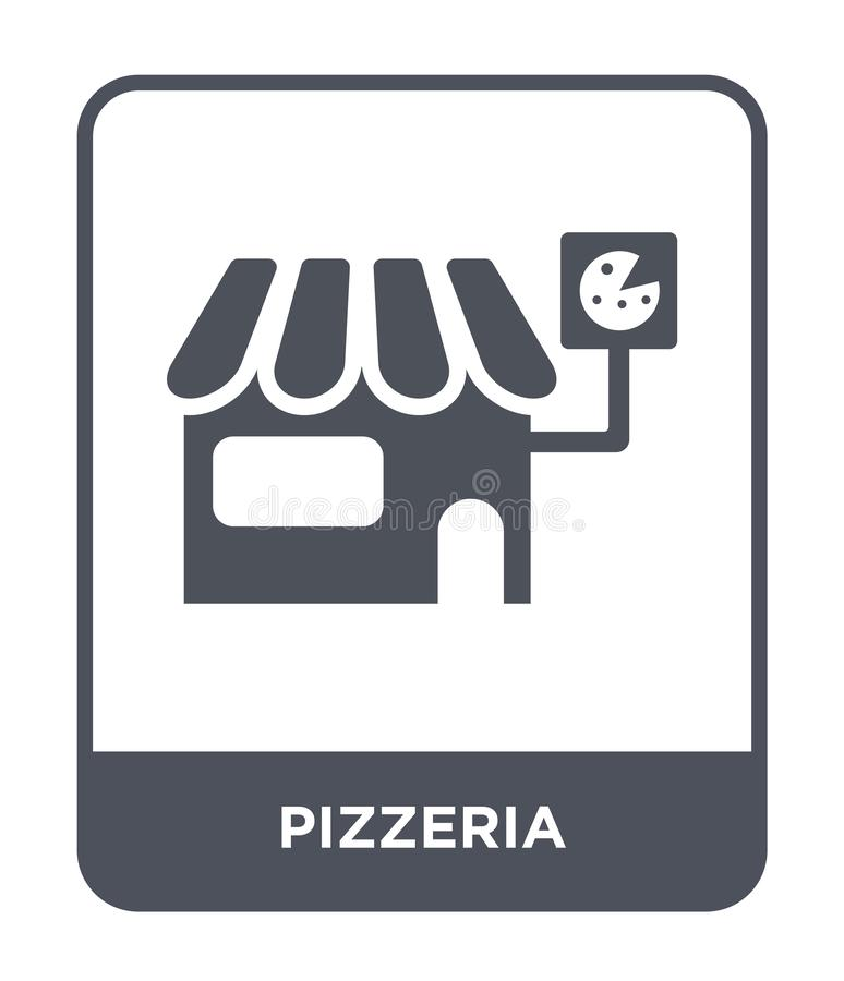 pizzeria icon in trendy design style. pizzeria icon isolated on white background. pizzeria vector icon simple and modern flat royalty free illustration