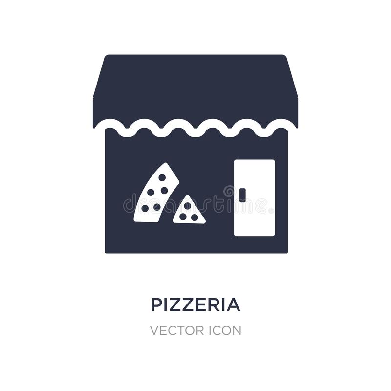 pizzeria icon on white background. Simple element illustration from City elements concept stock illustration