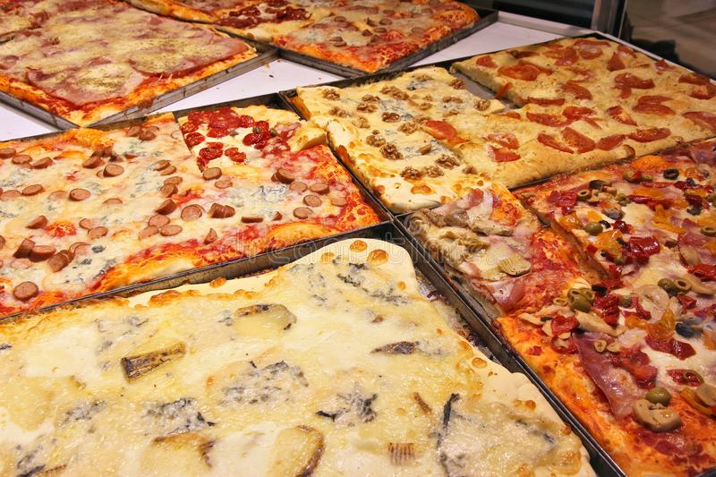 Pizzeria in Italië stock fotografie