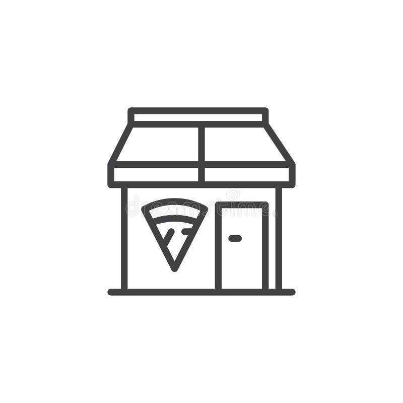 Pizzeria line icon stock illustration
