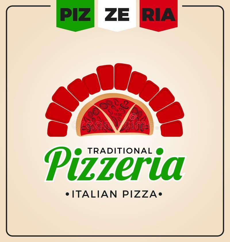 Pizzeria loga szablonu projekt ilustracja wektor